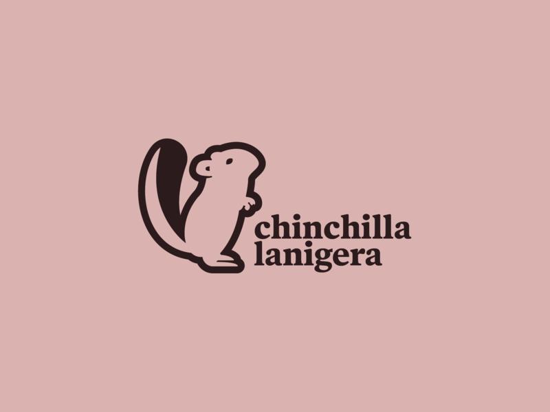 Chinchilla Logo Mark chile andes mountains long tailed chinchilla mark logo design logo mark chinchilla