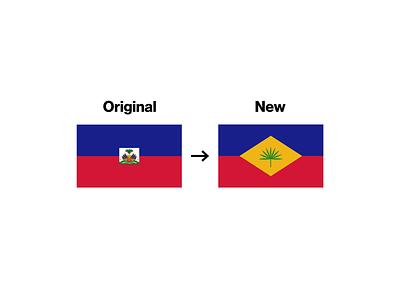 Haiti Flag Redesign national seal stripes palm tree redesign flag haiti