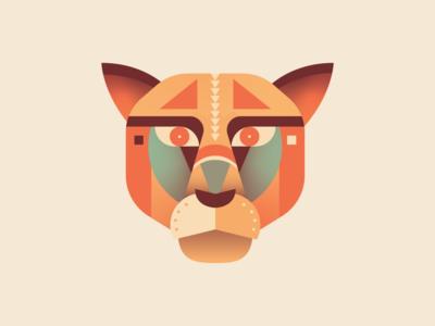 Geometric Mountain Lion