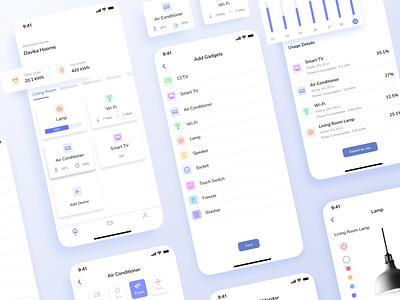 Smart Home App app minimal flat vector mobile icon clean ux ui design