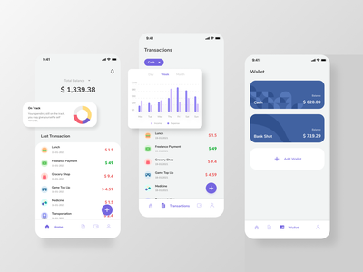 Money Management App ui  ux ux ui design minimalist clean design clean ui mobile ui clean design