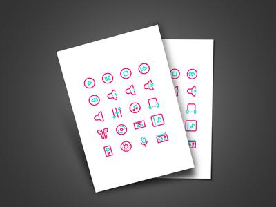 Music App Icons icondesign vector flat design app ux ui illustration icon