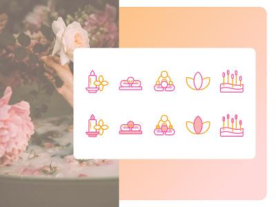 Wellness Service Icons mobile ios minimal website web ux ui icondesign design flat illustration icon
