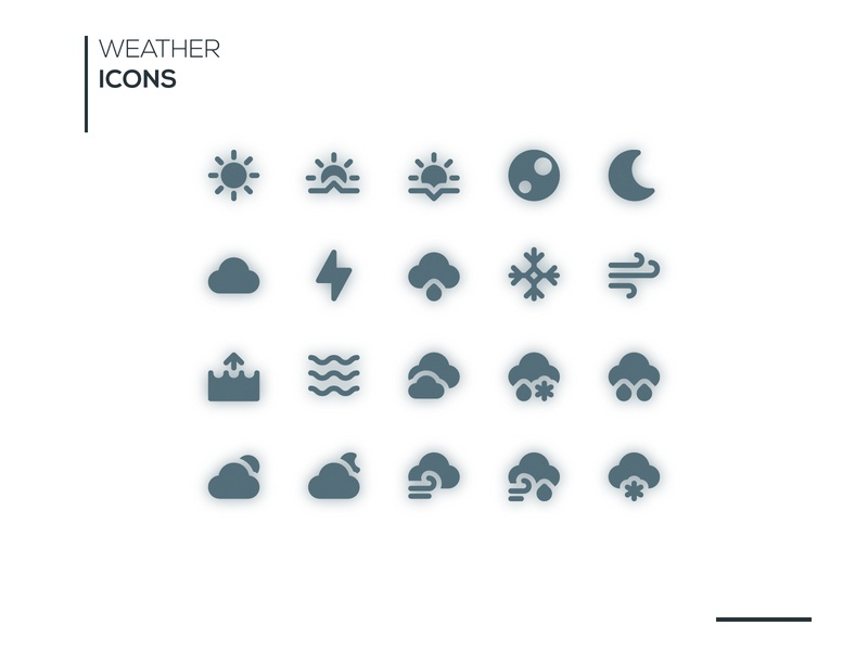 Weather Icons Solid Style ui icondesign illustrator vector flat illustration design icon