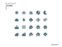 Weather Icons Solid Style