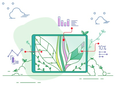 Diseased Plant ui animation website mobile clean vector illustrator flat illustration design