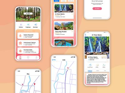 Pinarak Madiun App clean icon mobile ui illustration flat design