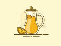 Orage Juice vector pot potion juice item illustration icon orange gradient design