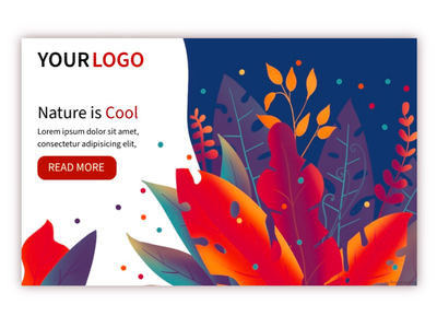 Nature is Cool nature vector ux ui illustration procreate web design