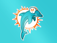 Miami Dolphins tweak/logo combo