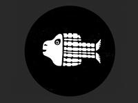 character design- Iconic illustration deep sea black and white vector illustration fish vector flat-design illustration