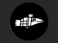 character design- Iconic illustration 2d character black and white illustraion vector illustration flat-design vector icon fish birds illustration
