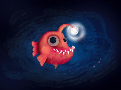 Angler Fish - mascotte-design- Overding Company