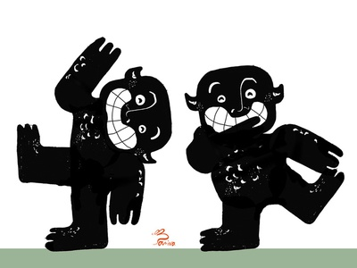 character design for a book (Monster of Number)