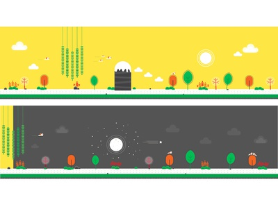 Game Background-2D  illustration background 2d illustrator flat-design illustration