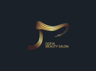 SOFIA beauty salon logo mark logo design