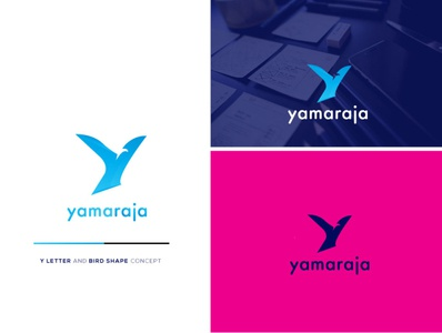 Y letter with bird idea
