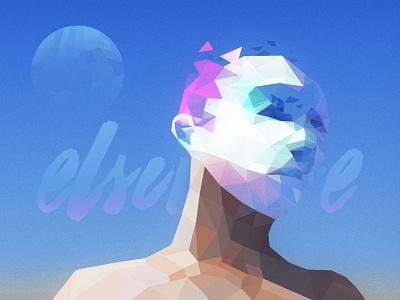 elsewhere sci-fi planets sand desert illustration art polygon