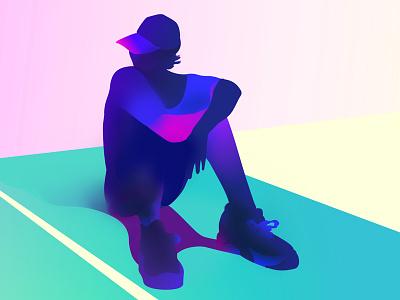 play minimalist colors sports illustration vector