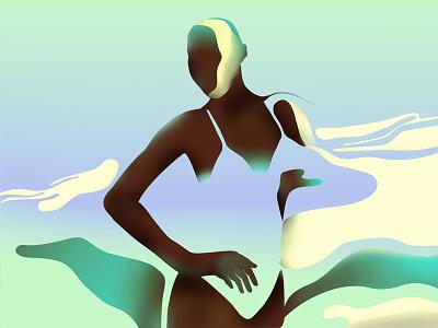 melting sun minimalist illustration vector