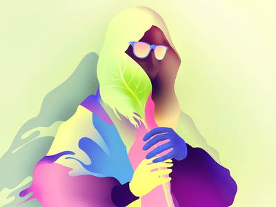 hair minimalist illustrator characters shading illustration vector