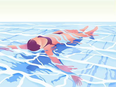swim minimalist swim pool illustrator characters shading illustration vector