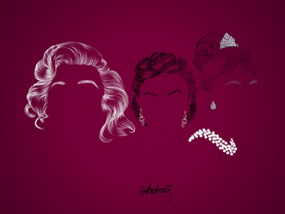 Marilyn, Scarlet and Holly