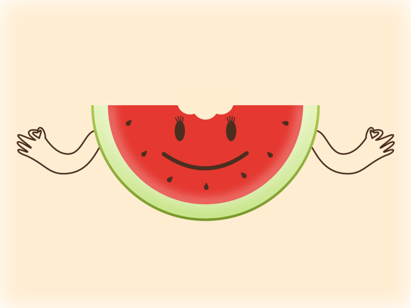 Happy WaterMelon juicy tasty smiley happy graphicdesign illustration design app sketch