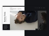 Karina Tesla Portfolio Website Design