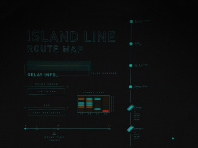 Commute Info FUI fui infographic vector interface