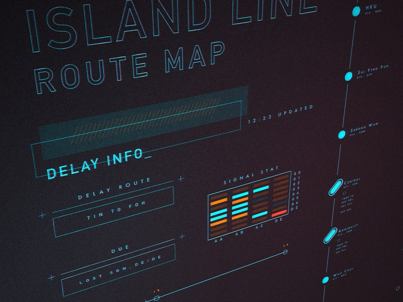 FUI with Lights fui blender3d ui illustration interface vector infographic
