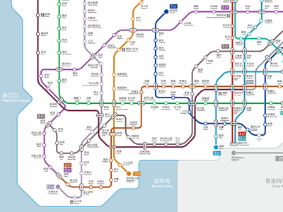 Metro Map - A better ball of wool commuter transportation design map information design informational infographic illustration vector