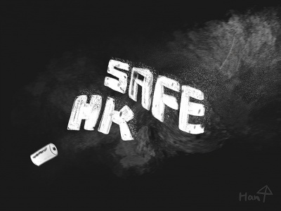 SAFE, NO GAS calligraphy design typography vector illustration