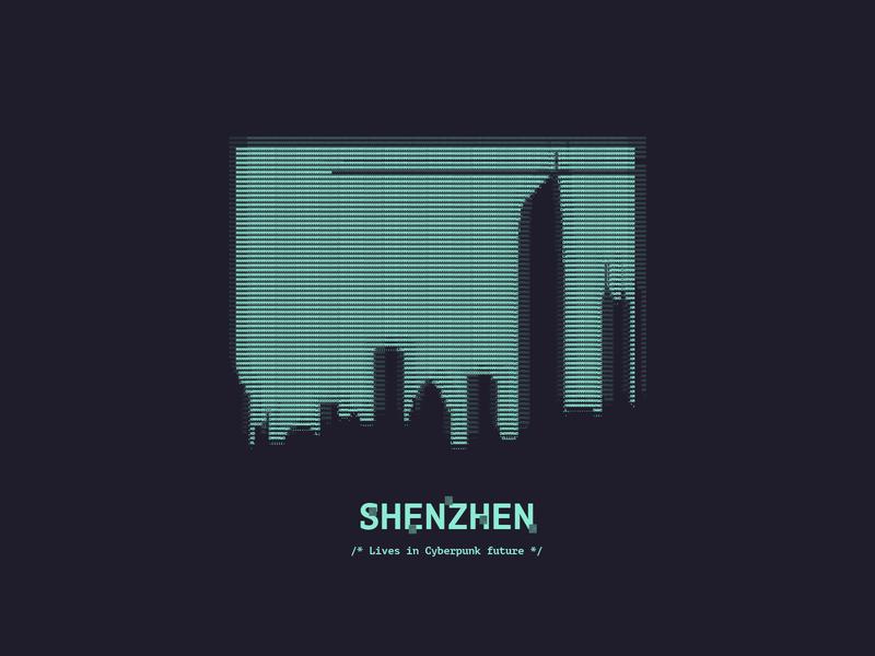 Welcome to the Cyberpunk future city city branding branding design ascii art vector illustration