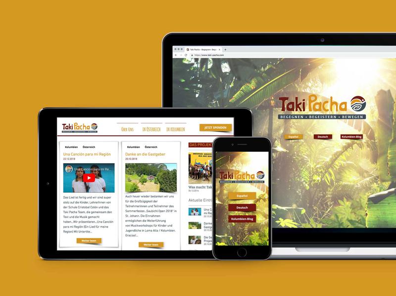 taki pacha website screendesign branding logo design