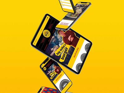 Big Mike's Burger web website screendesign print design logo branding