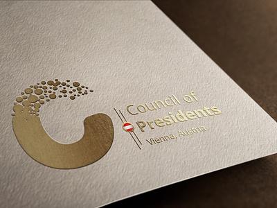 Council of Presidents typography editorial design print branding logo design