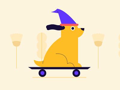 Birthday doggie illustration dog ui design animation