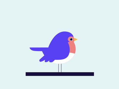 Birdie design ui illustration bird illustration bird animation