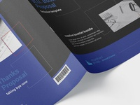 BLU. Proposal Editorial Layout | InDesign Booklet annual report corporate clean business indesign brand identity proposal professional creative