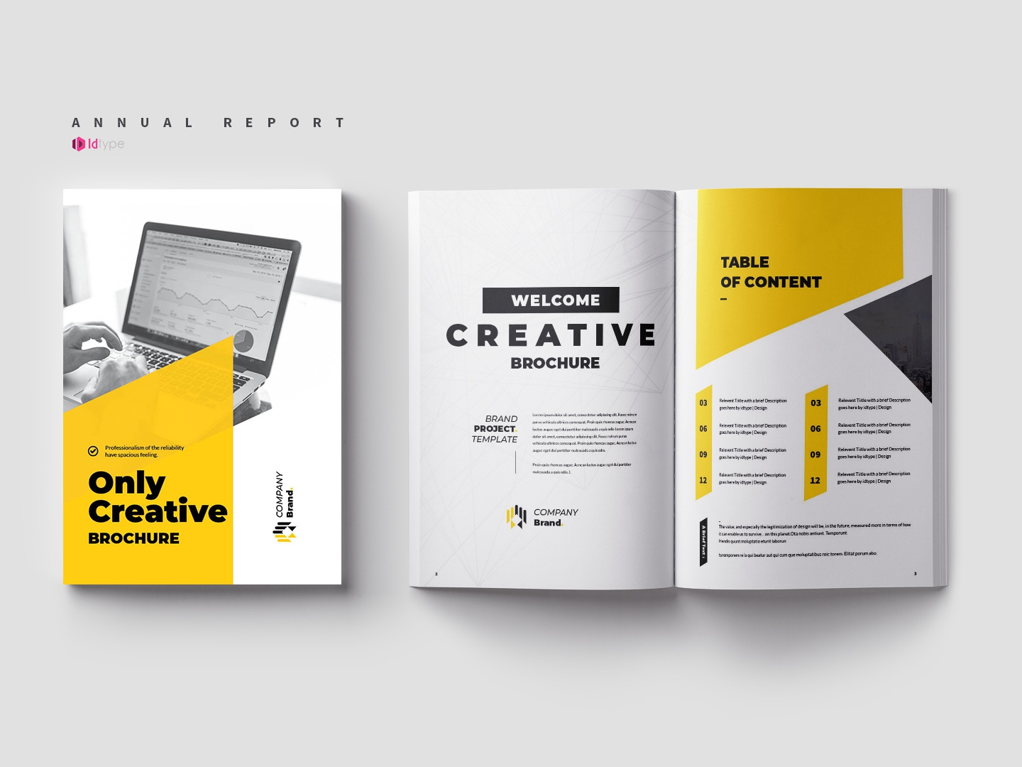 Annual Report Template By Yasin Arafat On Dribbble