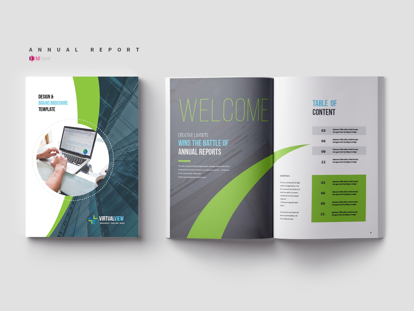 Annual Report Template | GraphicRiver by Yasin Arafat on
