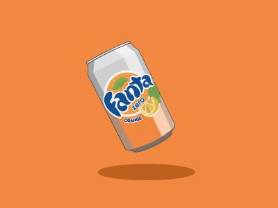 Fanta Zero Can Vector Illustration