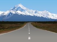 New Zealand Mountain Illustration
