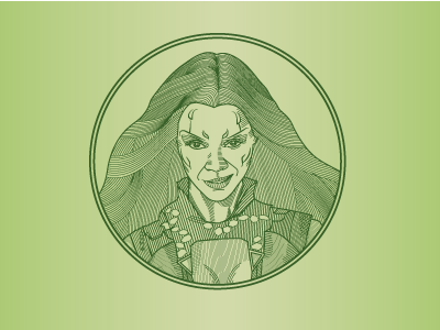 Line Illustration of Gamora