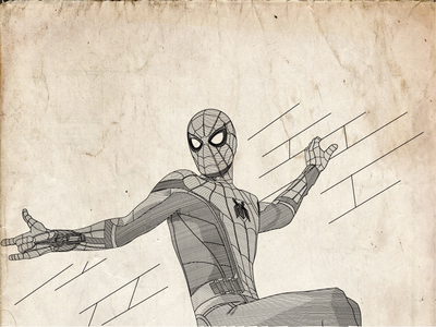 Spiderman Line Illustration