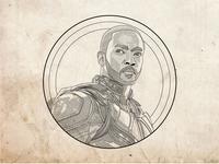 Line Illustration of the Falcon