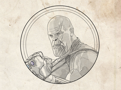 Thanos Line Illustration