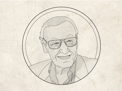 Stan Lee Line Illustration