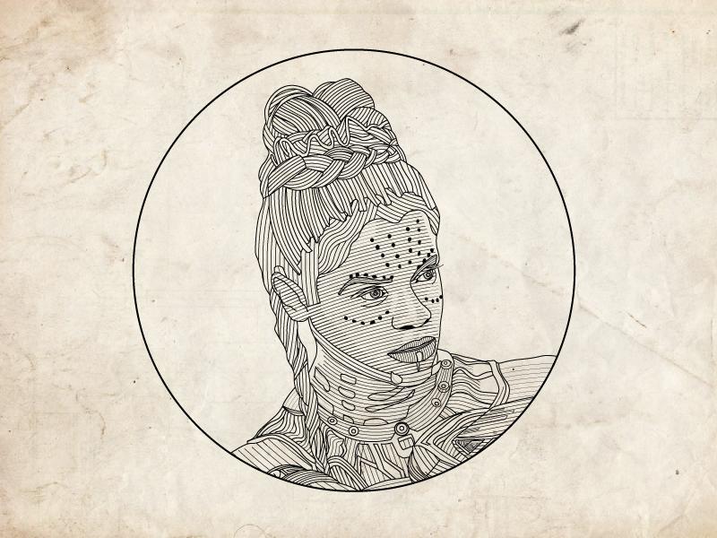Shuri Line Illustration by Declan Ingram on Dribbble